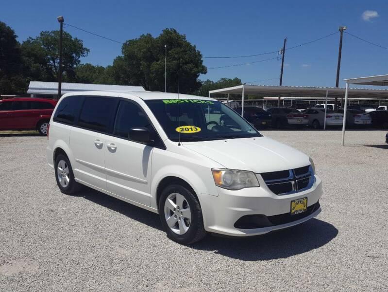 2013 Dodge Grand Caravan for sale at Bostick's Auto & Truck Sales in Brownwood TX