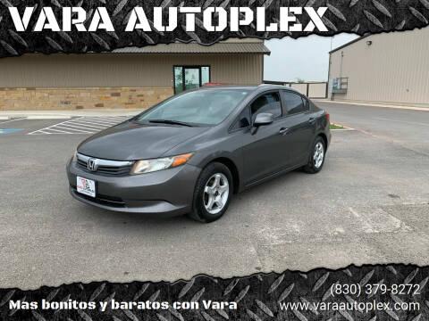 2012 Honda Civic for sale at VARA AUTOPLEX in Seguin TX