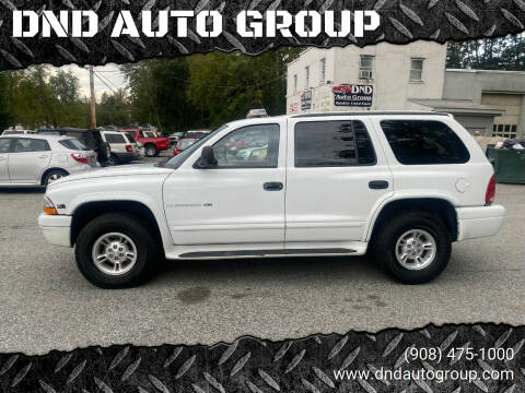 2000 Dodge Durango for sale at DND AUTO GROUP in Belvidere NJ