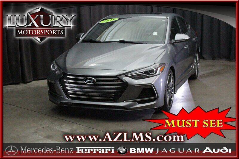 2018 Hyundai Elantra for sale at Luxury Motorsports in Phoenix AZ