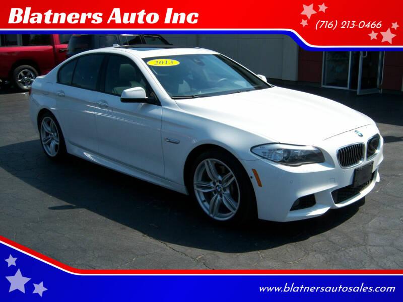 2013 BMW 5 Series for sale at Blatners Auto Inc in North Tonawanda NY