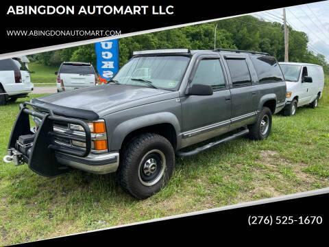 1999 Chevrolet Suburban for sale at ABINGDON AUTOMART LLC in Abingdon VA