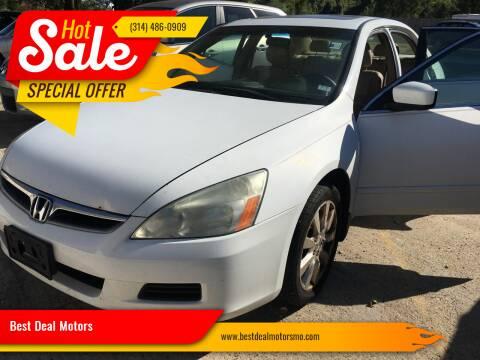 2006 Honda Accord for sale at Best Deal Motors in Saint Charles MO