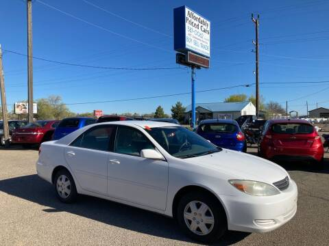 2003 Toyota Camry for sale at AFFORDABLY PRICED CARS LLC in Mountain Home ID