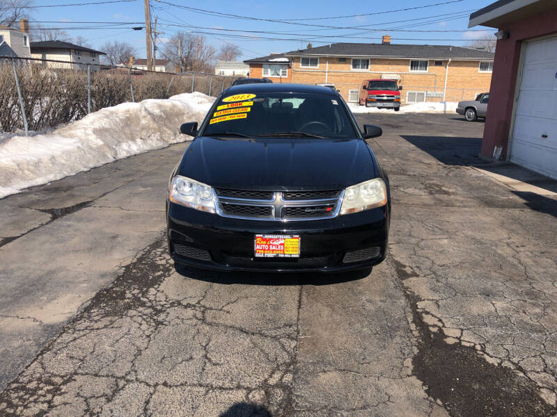 2013 Dodge Avenger for sale at RON'S AUTO SALES INC in Cicero IL
