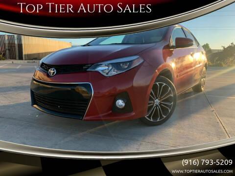 2016 Toyota Corolla for sale at Top Tier Auto Sales in Sacramento CA