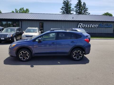 2013 Subaru XV Crosstrek for sale at ROSSTEN AUTO SALES in Grand Forks ND