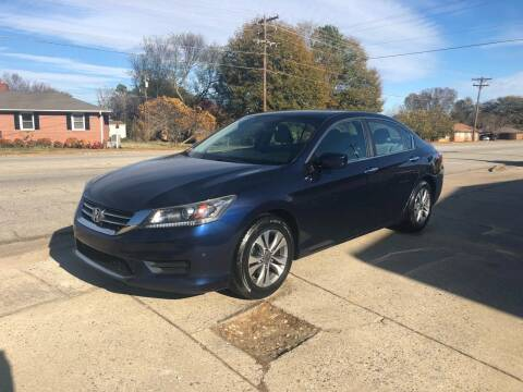 2013 Honda Accord for sale at E Motors LLC in Anderson SC