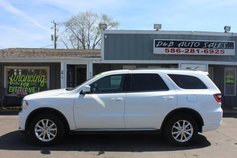 2018 Dodge Durango for sale at D & B Auto Sales LLC in Washington Township MI