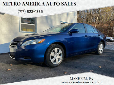 2007 Toyota Camry for sale at METRO AMERICA AUTO SALES of Manheim in Manheim PA