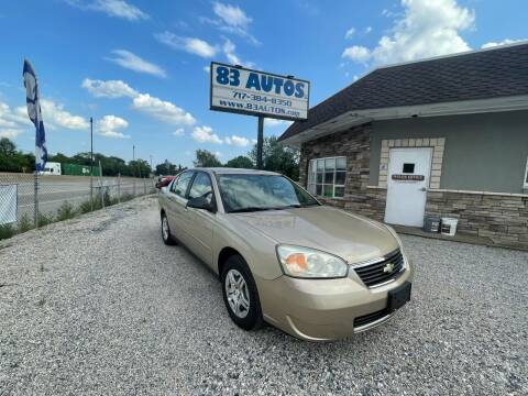 2007 Chevrolet Malibu for sale at 83 Autos in York PA