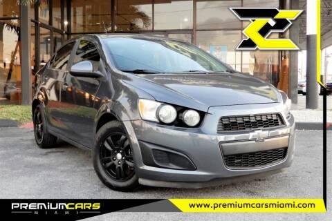2012 Chevrolet Sonic for sale at Premium Cars of Miami in Miami FL