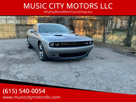 2015 Dodge Challenger for sale at MUSIC CITY MOTORS LLC in Nashville TN