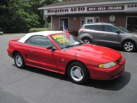 1995 Ford Mustang for sale at HOGSTEN AUTO WHOLESALE in Ocala FL