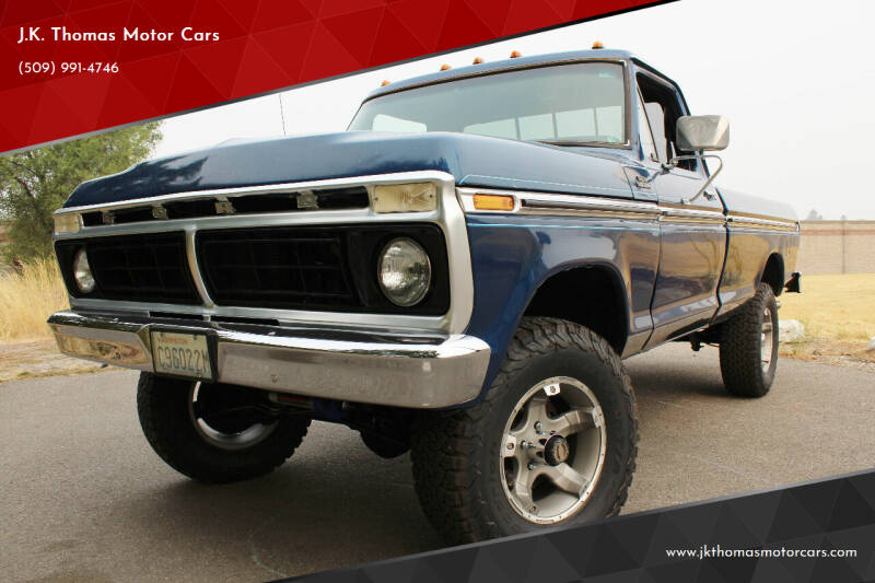 1977 Ford F-150 4X4 for sale at J.K. Thomas Motor Cars in Spokane Valley WA