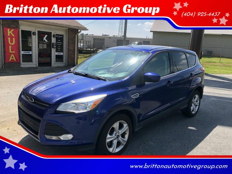 2015 Ford Escape for sale at Britton Automotive Group in Loganville GA