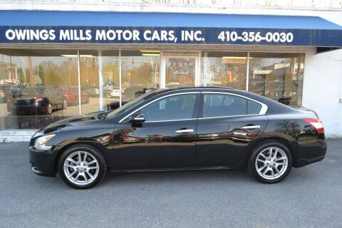 2010 Nissan Maxima for sale at Owings Mills Motor Cars in Owings Mills MD