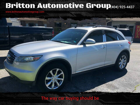 2007 Infiniti FX35 for sale at Britton Automotive Group in Loganville GA