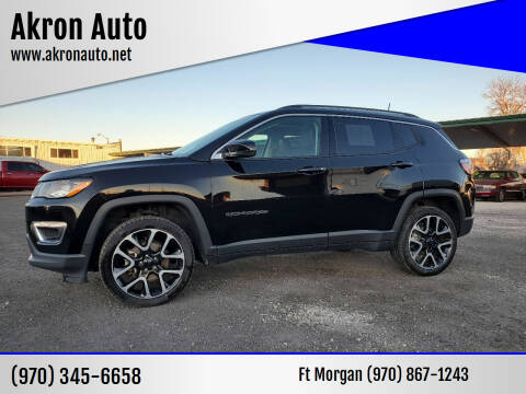 2017 Jeep Compass for sale at Akron Auto - Fort Morgan in Fort Morgan CO