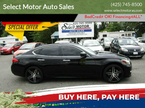 2012 Infiniti M37 for sale at Select Motor Auto Sales in Lynnwood WA