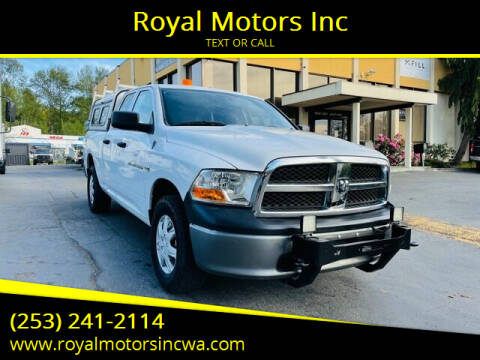 2011 RAM Ram Pickup 1500 for sale at Royal Motors Inc in Kent WA
