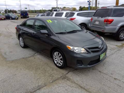 2012 Toyota Corolla for sale at Regency Motors Inc in Davenport IA