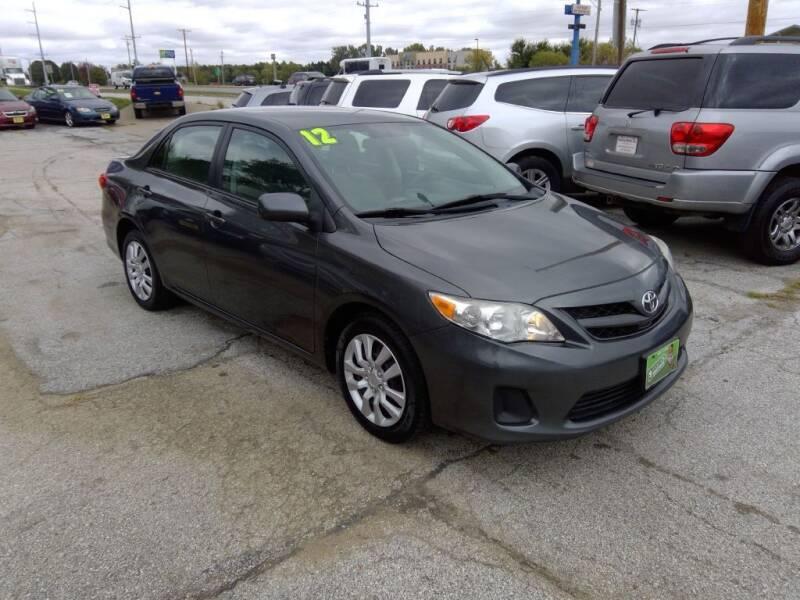 2012 Toyota Corolla for sale at Regency Motors Inc in Davenport IA