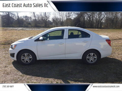 2014 Chevrolet Sonic for sale at East Coast Auto Sales llc in Virginia Beach VA