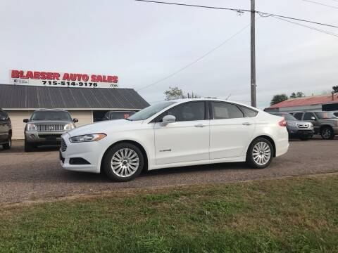 2015 Ford Fusion Hybrid for sale at BLAESER AUTO LLC in Chippewa Falls WI