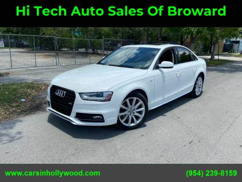 2014 Audi A4 for sale at Hi Tech Auto Sales Of Broward in Hollywood FL