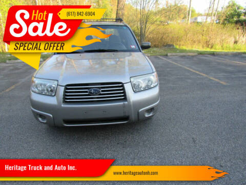 2007 Subaru Forester for sale at Heritage Truck and Auto Inc. in Londonderry NH