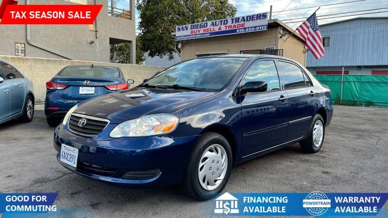 2007 Toyota Corolla for sale at San Diego Auto Traders in San Diego CA