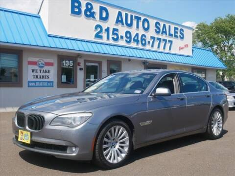 2012 BMW 7 Series for sale at B & D Auto Sales Inc. in Fairless Hills PA