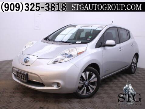 2013 Nissan LEAF for sale at STG Auto Group in Montclair CA