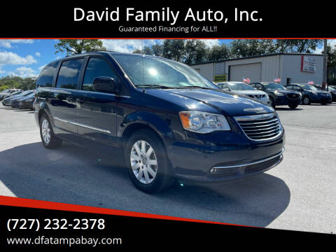 2016 Chrysler Town and Country for sale at David Family Auto, Inc. in New Port Richey FL