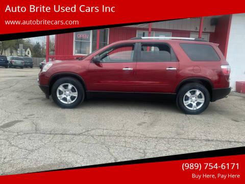 2011 GMC Acadia for sale at Auto Brite Used Cars Inc in Saginaw MI