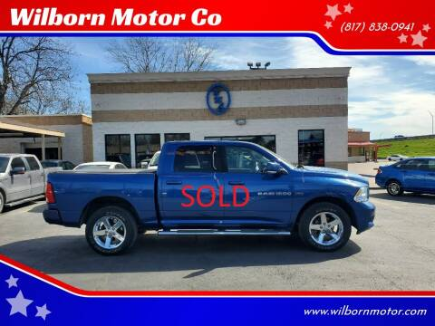2011 RAM Ram Pickup 1500 for sale at Wilborn Motor Co in Fort Worth TX