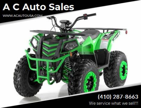 2021 Apollo Commander 0330 for sale at A C Auto Sales in Elkton MD