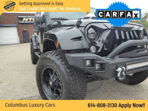 2017 Jeep Wrangler Unlimited for sale at Columbus Luxury Cars in Columbus OH