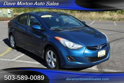 2013 Hyundai Elantra for sale at Dave Morton Auto Sales in Salem OR