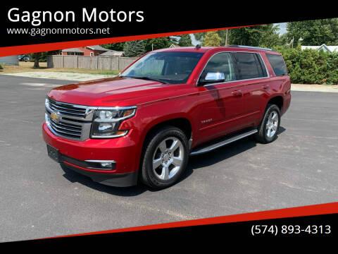 2015 Chevrolet Tahoe for sale at Gagnon  Motors - Gagnon Motors in Akron IN