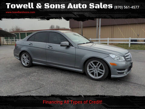2013 Mercedes-Benz C-Class for sale at Towell & Sons Auto Sales in Manila AR