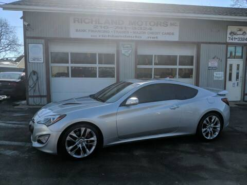2013 Hyundai Genesis Coupe for sale at Richland Motors in Cleveland OH