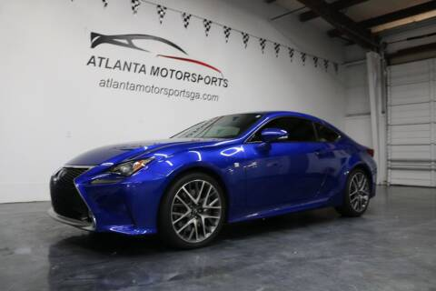 2015 Lexus RC 350 for sale at Atlanta Motorsports in Roswell GA