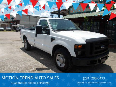 2009 Ford F-250 Super Duty for sale at MOTION TREND AUTO SALES in Tomball TX