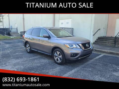 2020 Nissan Pathfinder for sale at TITANIUM AUTO SALE in Houston TX