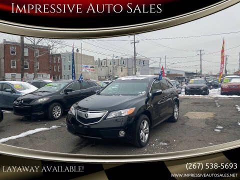 2013 Acura RDX for sale at Impressive Auto Sales in Philadelphia PA