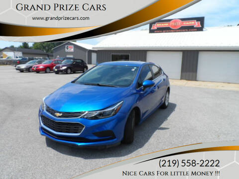 2017 Chevrolet Cruze for sale at Grand Prize Cars in Cedar Lake IN