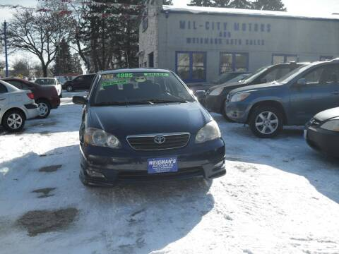 2007 Toyota Corolla for sale at Weigman's Auto Sales in Milwaukee WI