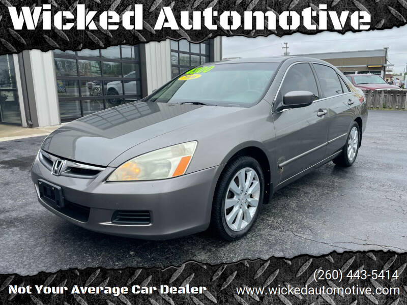 2006 Honda Accord for sale at Wicked Automotive in Fort Wayne IN